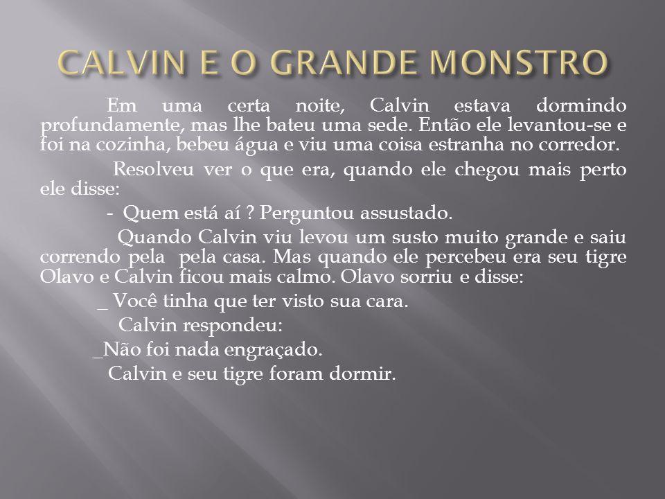 CALVIN E O GRANDE MONSTRO