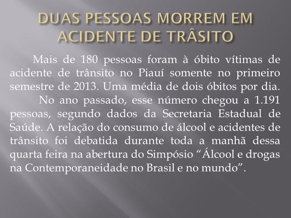 DUAS PESSOAS MORREM EM ACIDENTE DE TRÂSITO