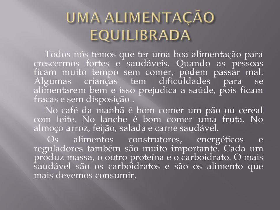 UMA ALIMENTAÇÃO EQUILIBRADA