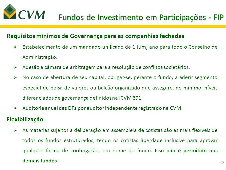 Fundos de Investimento em Participações - FIP