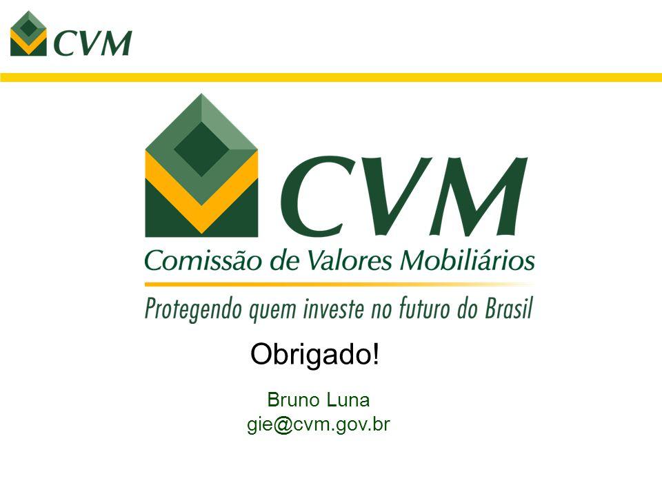 Obrigado! Bruno Luna gie@cvm.gov.br