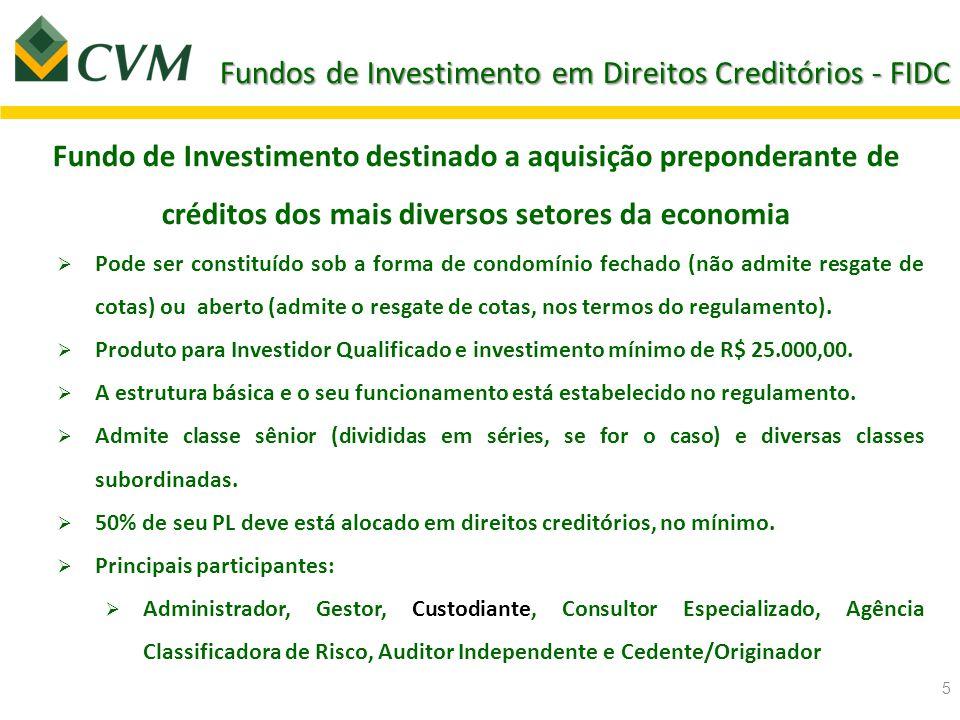 Fundos de Investimento em Direitos Creditórios - FIDC