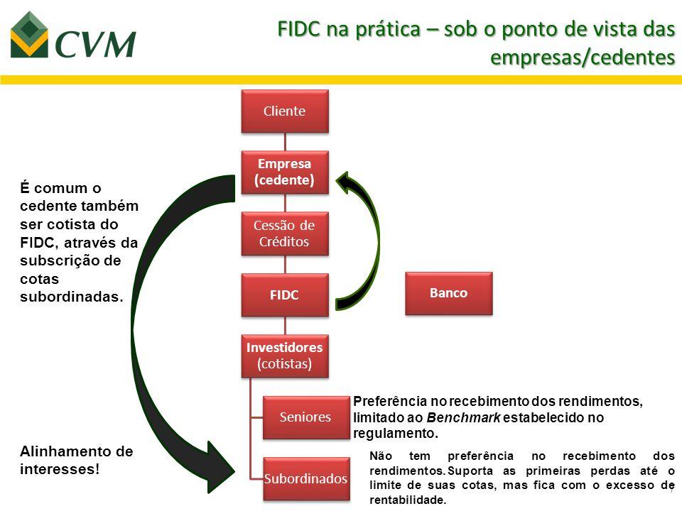 FIDC na prática – sob o ponto de vista das empresas/cedentes