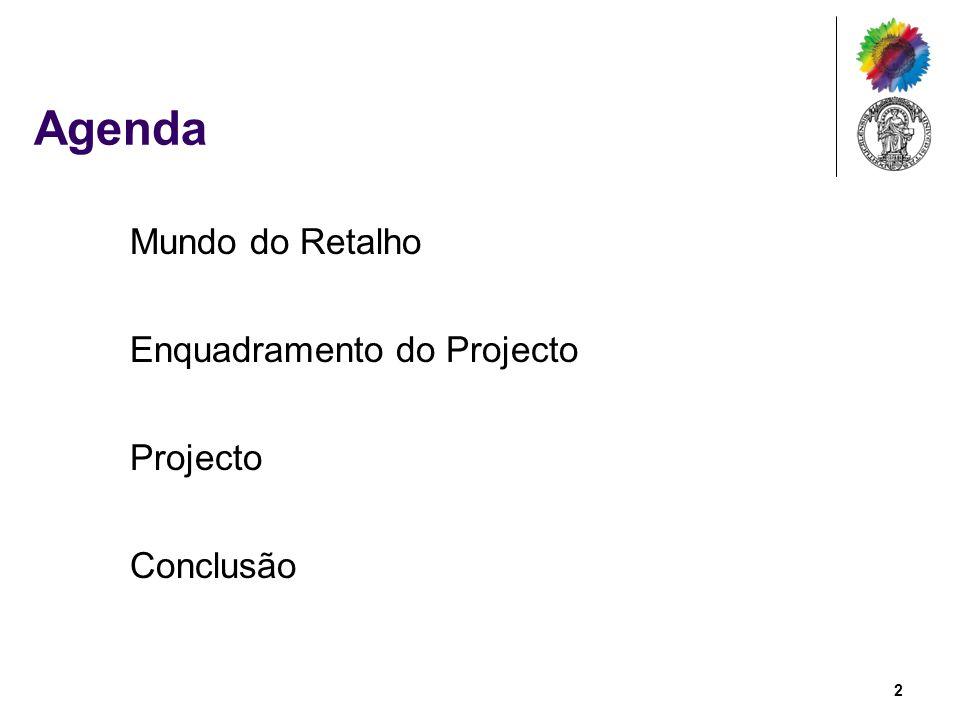 Agenda Mundo do Retalho Enquadramento do Projecto Projecto Conclusão