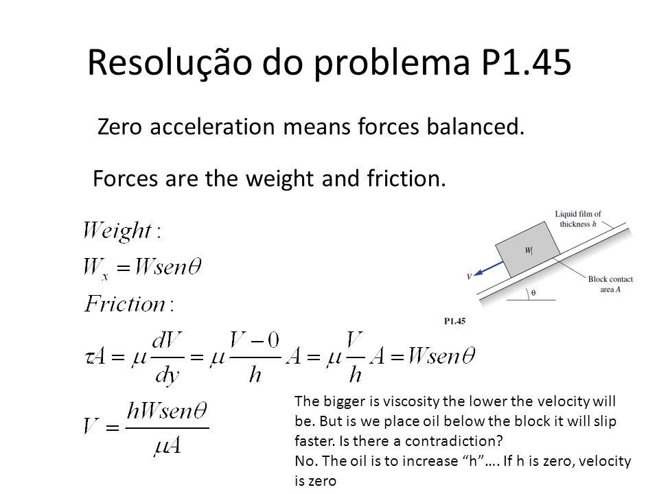 Resolução do problema P1.45