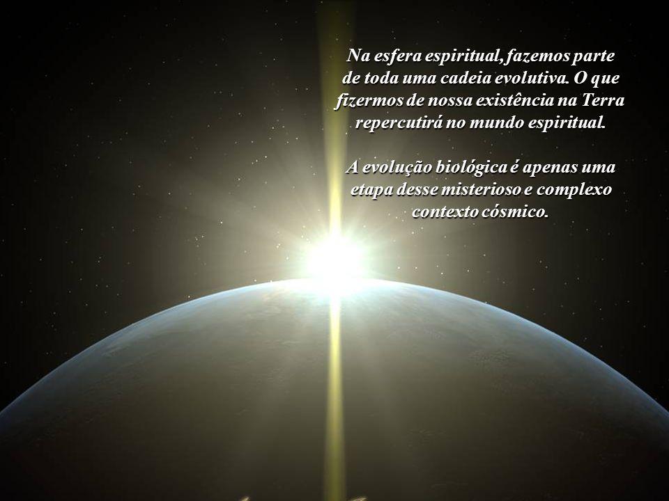 Na esfera espiritual, fazemos parte A evolução biológica é apenas uma
