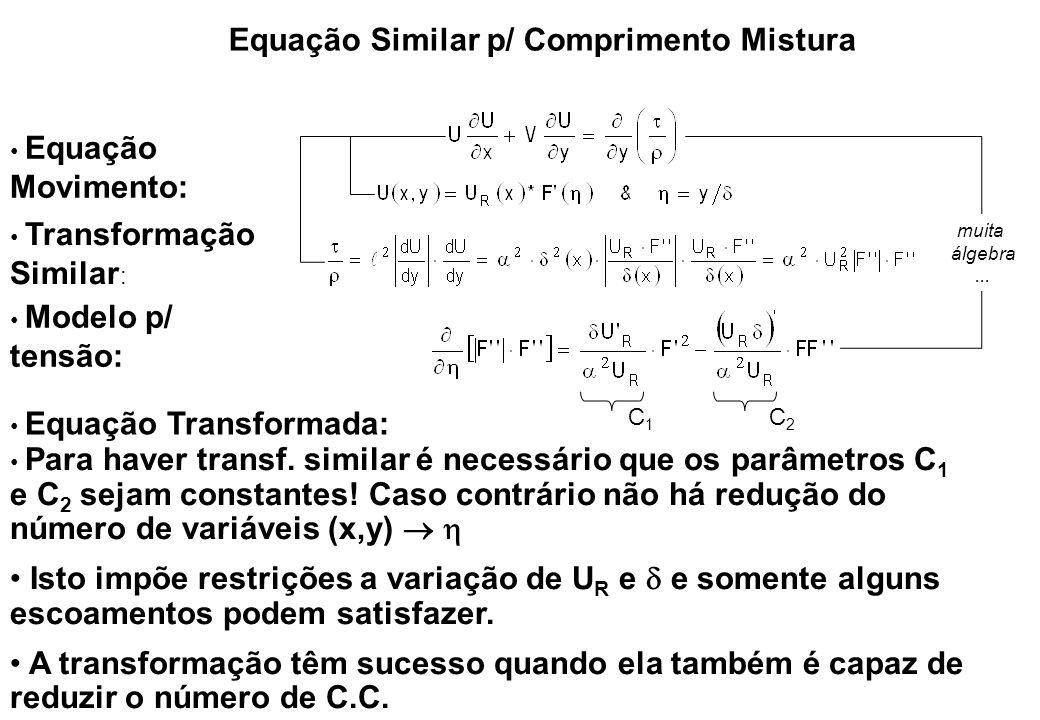 Equação Similar p/ Comprimento Mistura