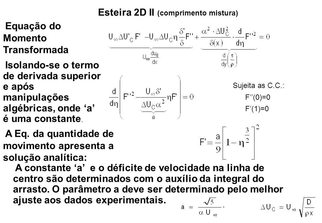 Esteira 2D II (comprimento mistura)