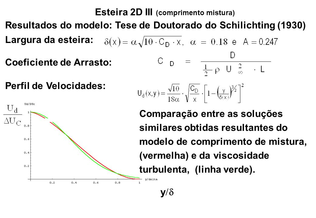 Esteira 2D III (comprimento mistura)