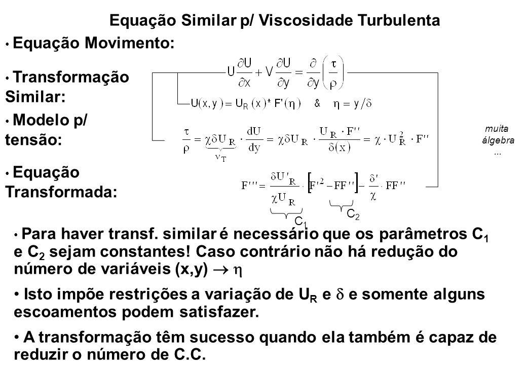 Equação Similar p/ Viscosidade Turbulenta