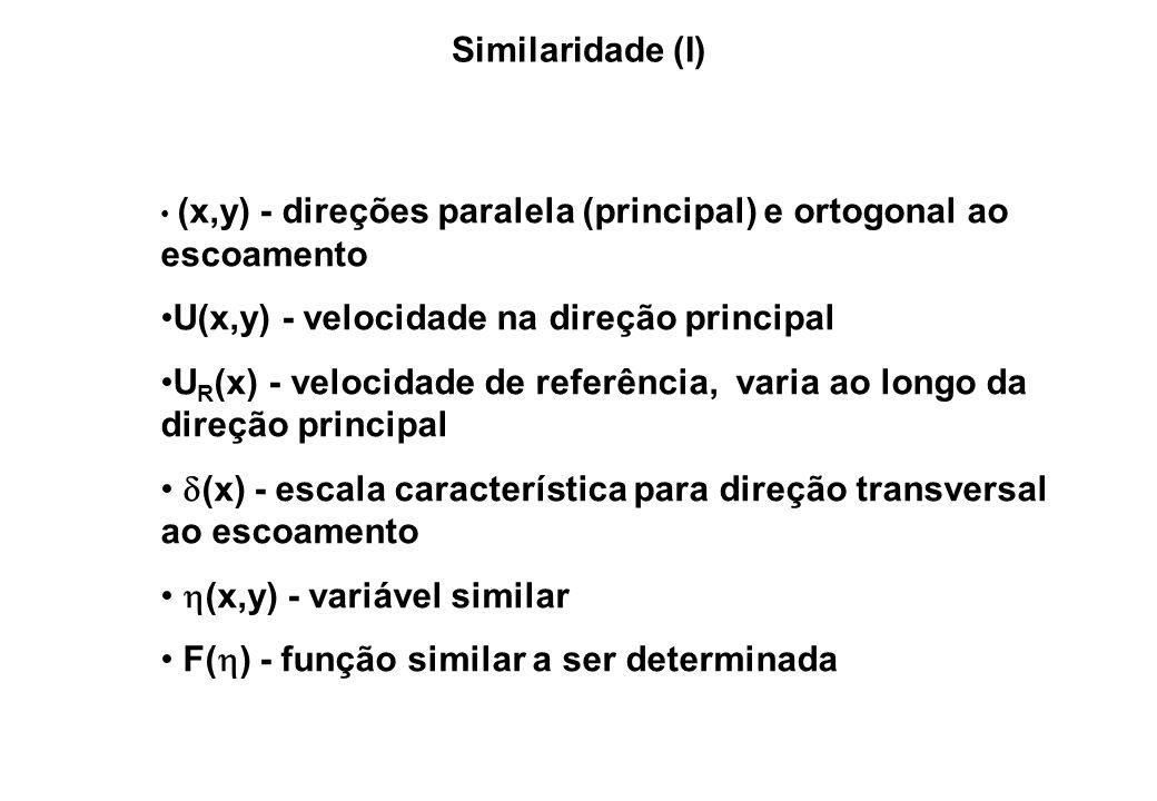 U(x,y) - velocidade na direção principal