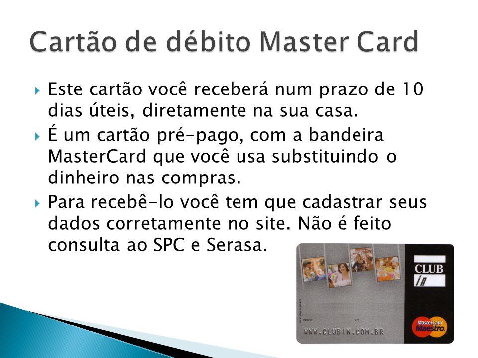 Cartão de débito Master Card