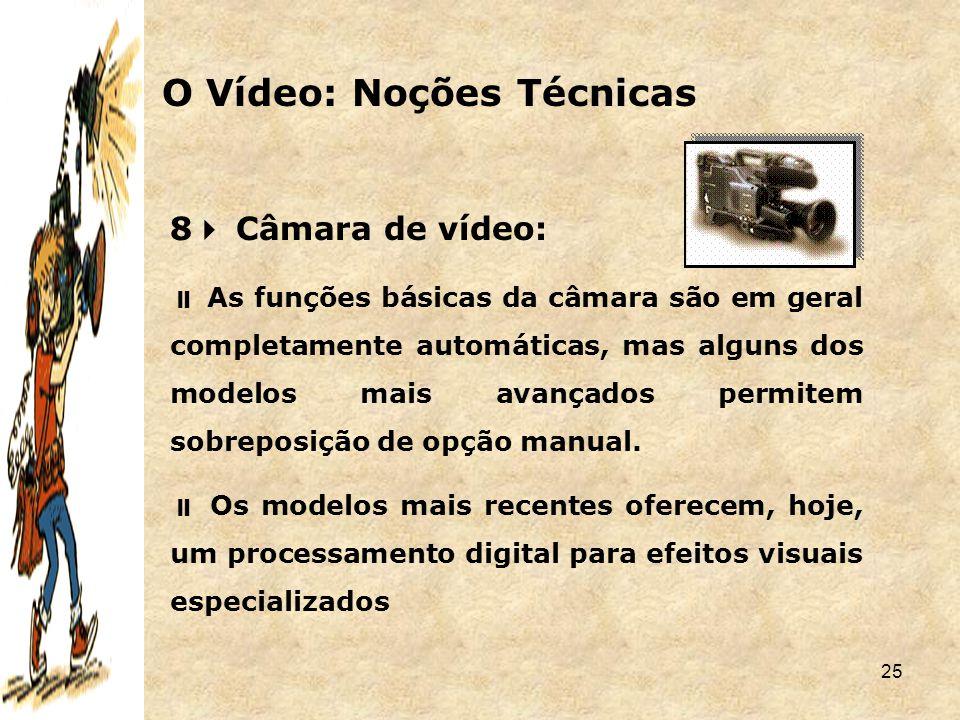 O Vídeo: Noções Técnicas
