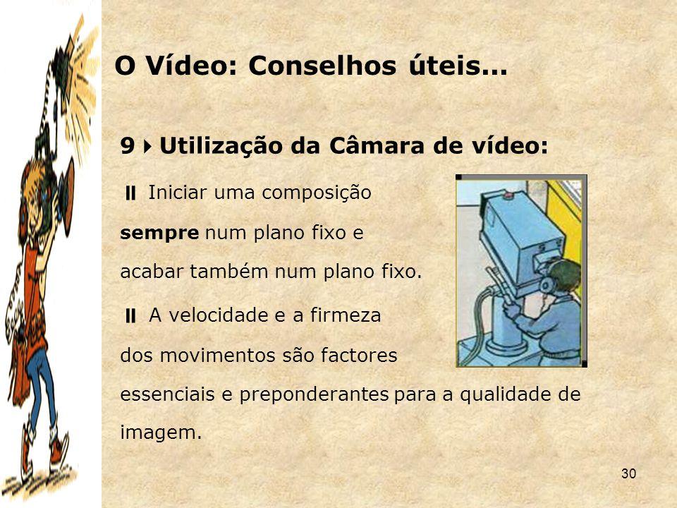 O Vídeo: Conselhos úteis...