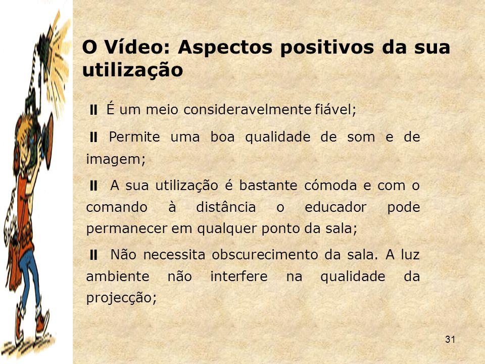 O Vídeo: Aspectos positivos da sua utilização