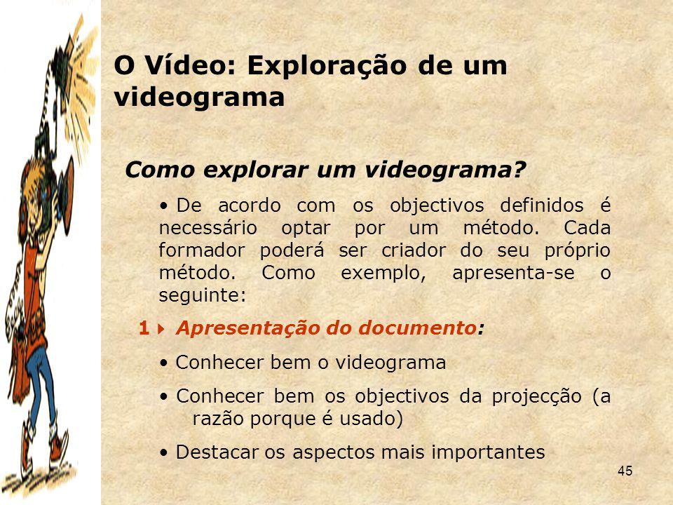O Vídeo: Exploração de um videograma