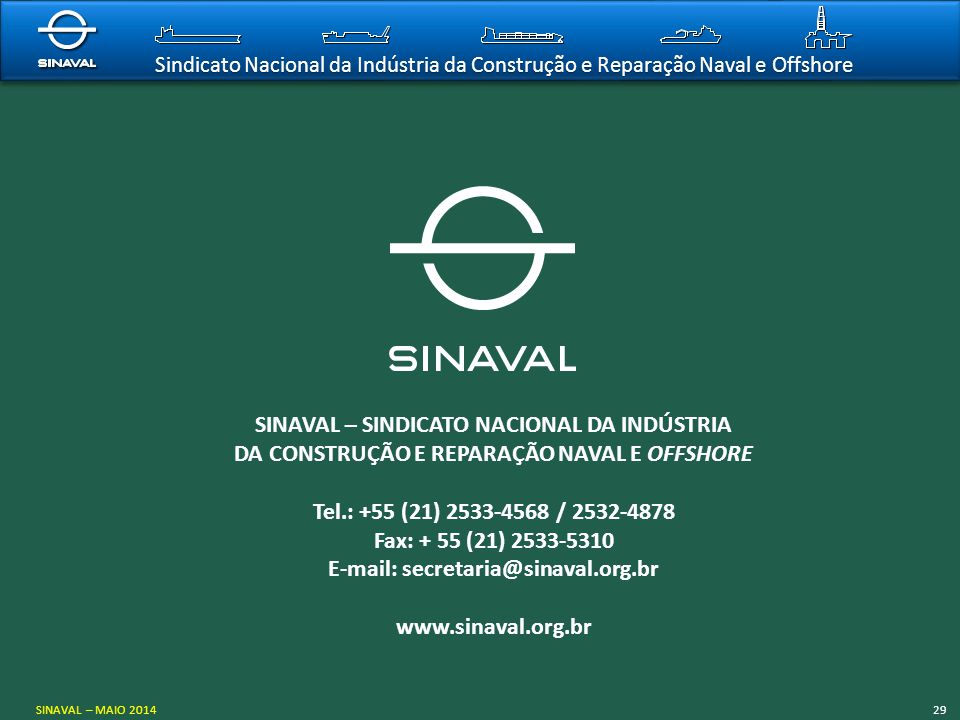 SINAVAL – SINDICATO NACIONAL DA INDÚSTRIA