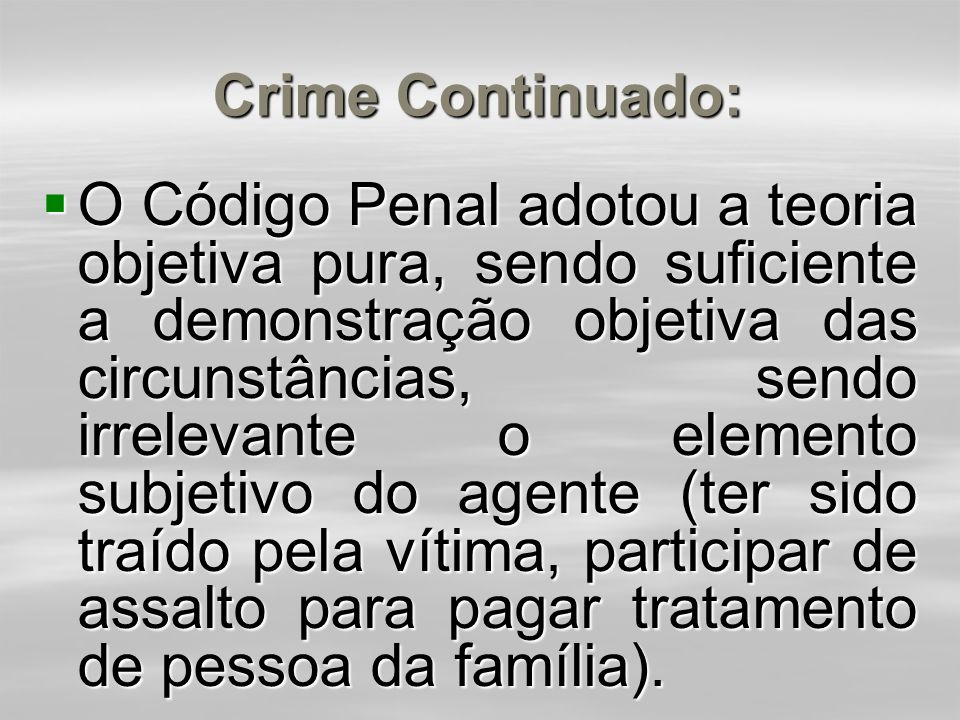 Crime Continuado: