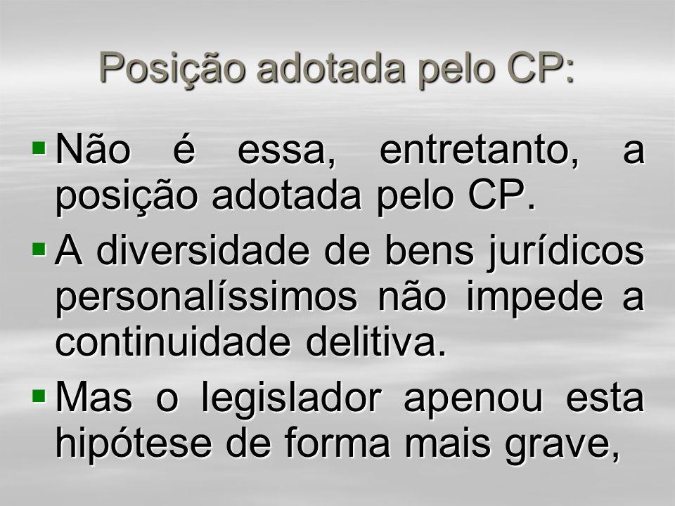 Posição adotada pelo CP: