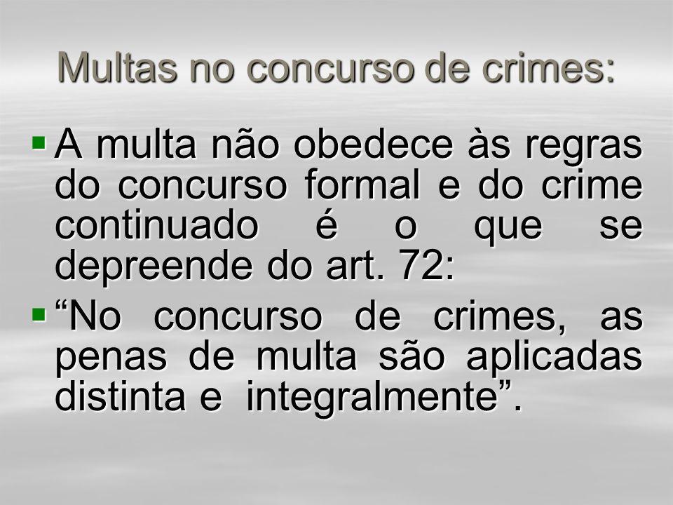 Multas no concurso de crimes: