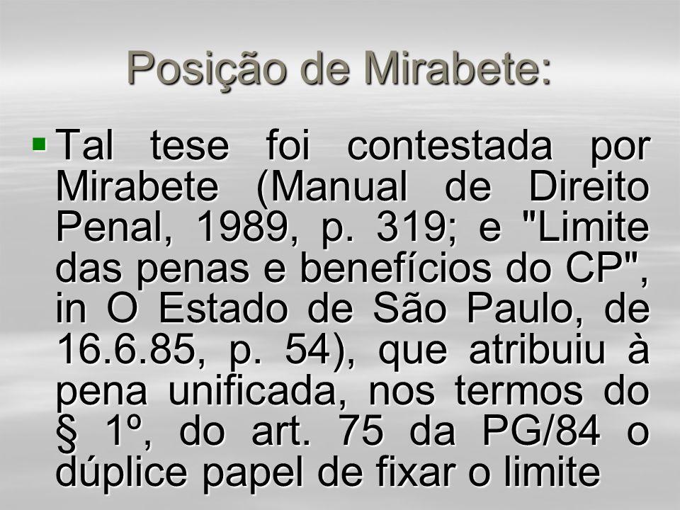 Posição de Mirabete: