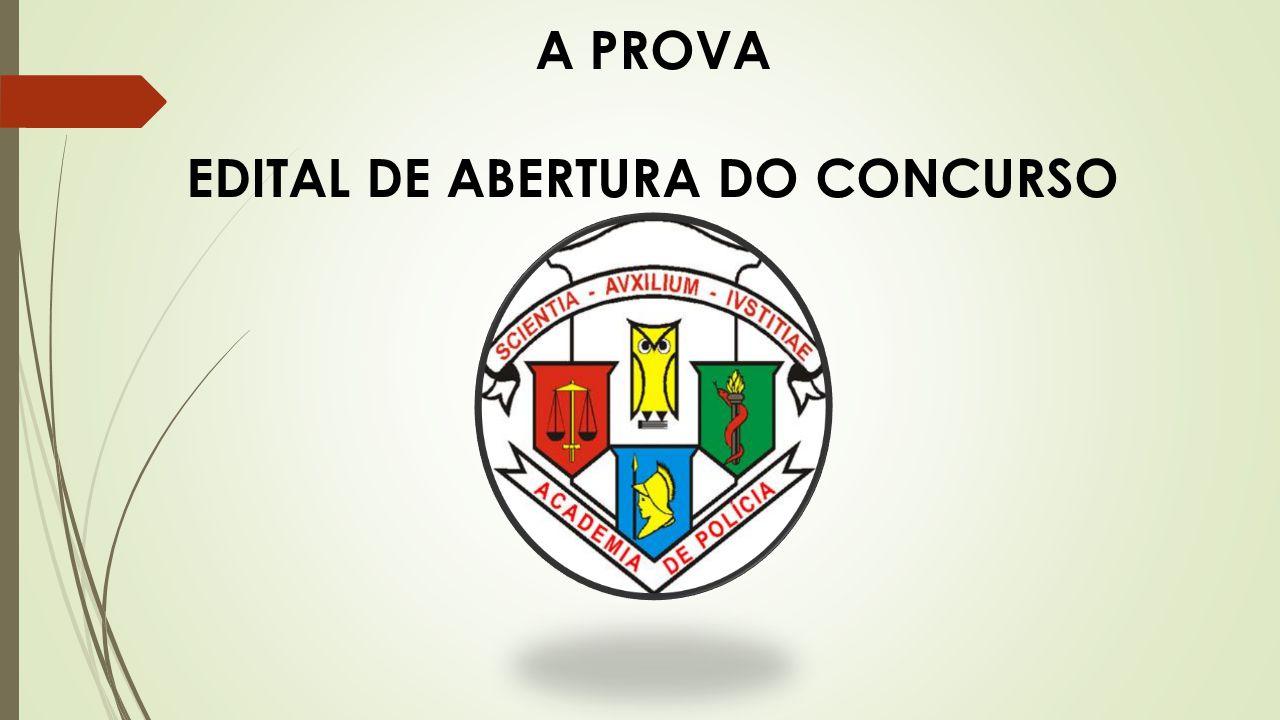 EDITAL DE ABERTURA DO CONCURSO