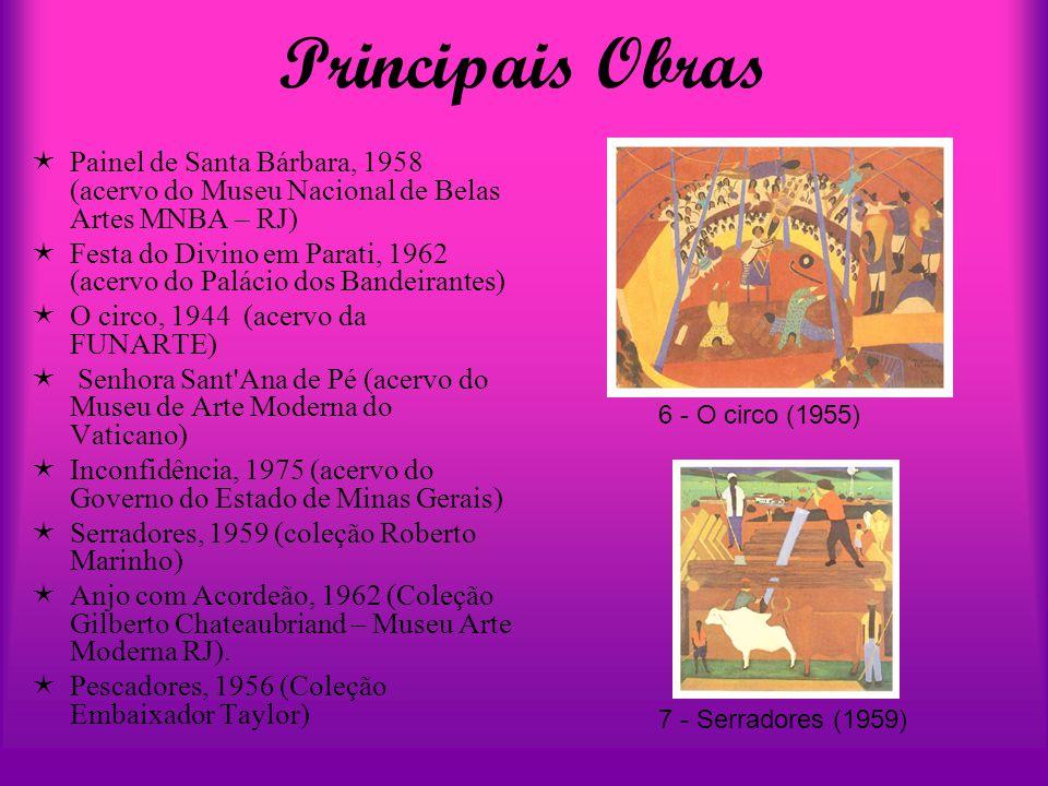 Principais Obras Painel de Santa Bárbara, 1958 (acervo do Museu Nacional de Belas Artes MNBA – RJ)