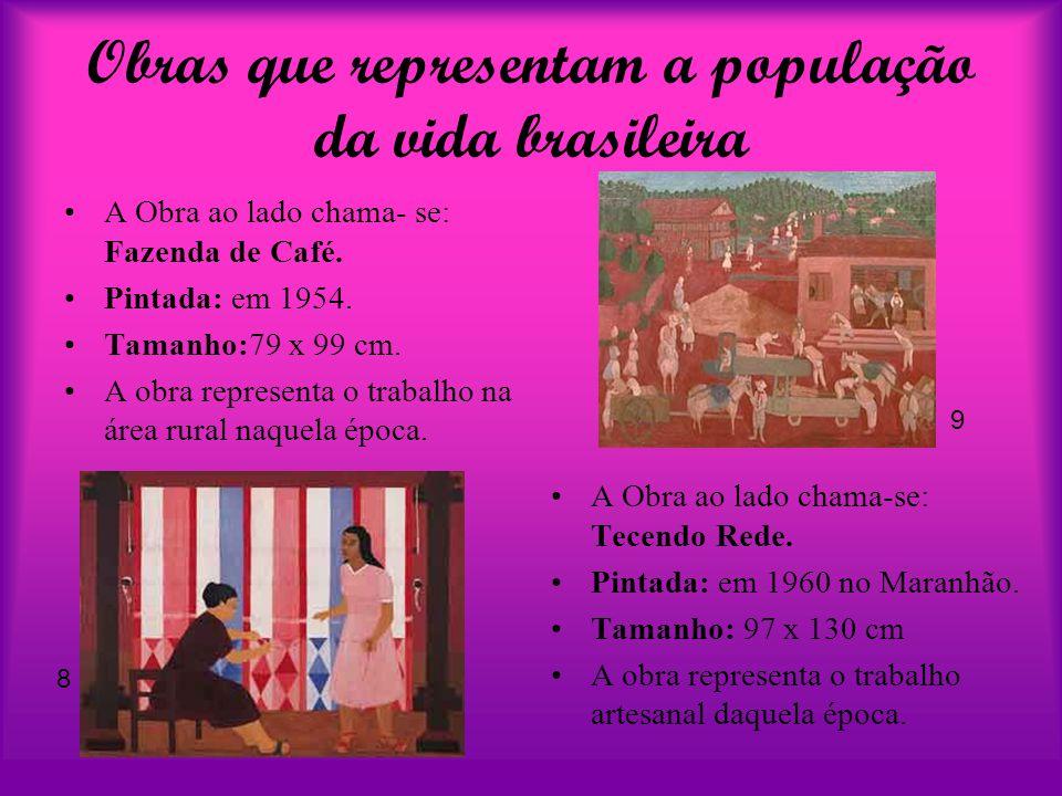 Obras que representam a população da vida brasileira