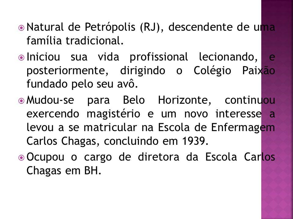 Natural de Petrópolis (RJ), descendente de uma família tradicional.