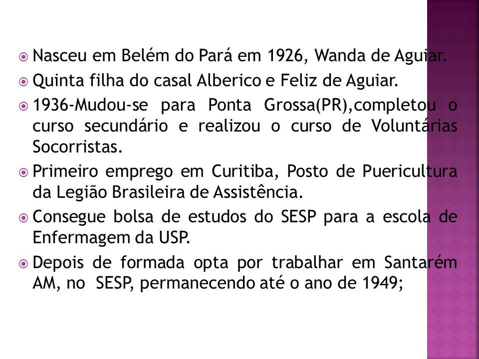 Nasceu em Belém do Pará em 1926, Wanda de Aguiar.