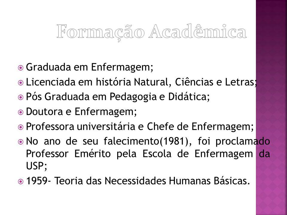 Formação Acadêmica Graduada em Enfermagem;
