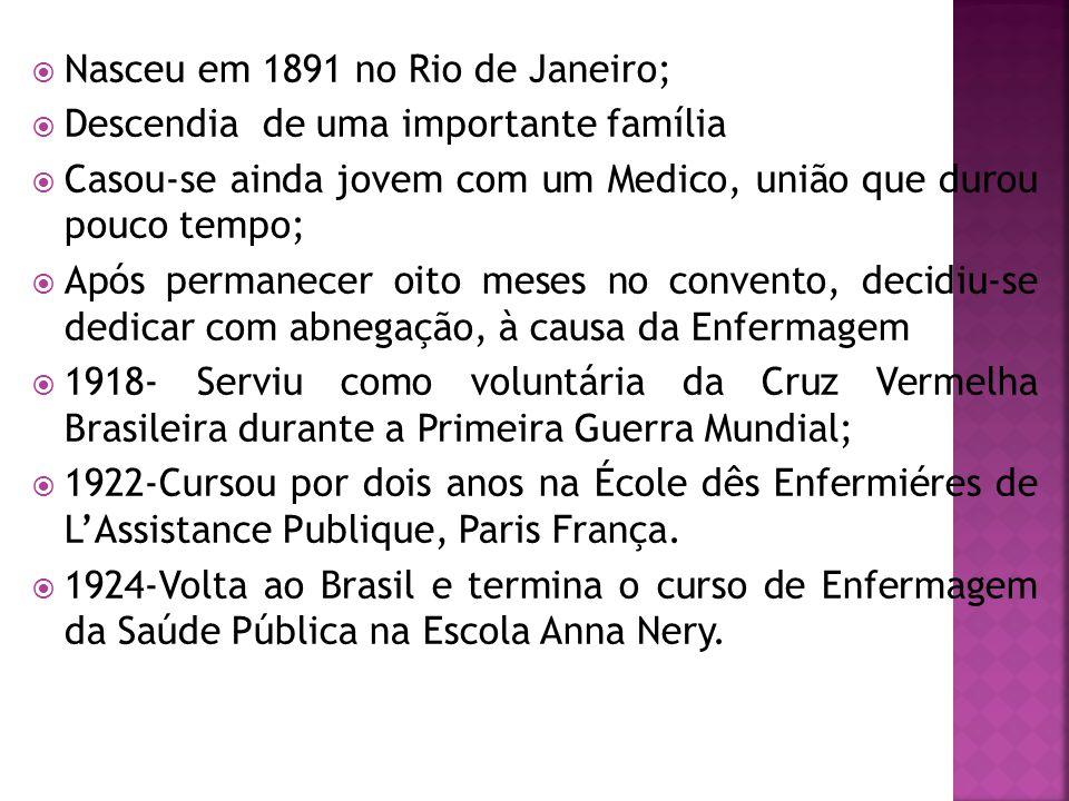 Nasceu em 1891 no Rio de Janeiro;