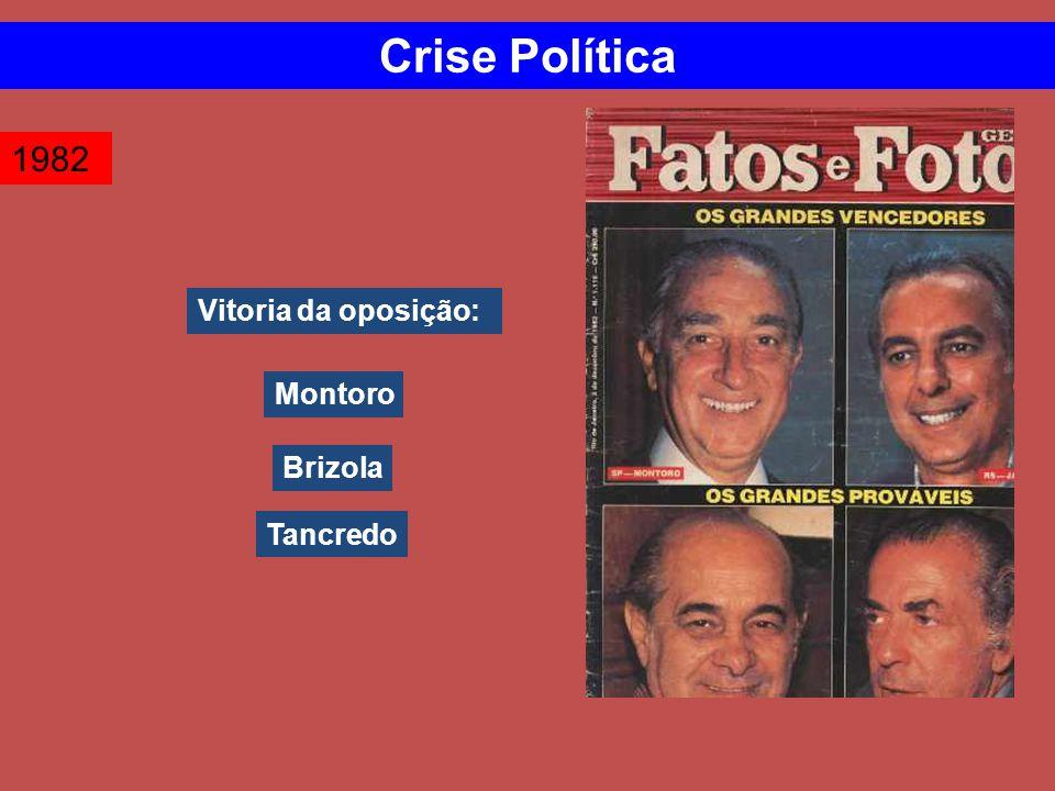 Crise Política 1982 Vitoria da oposição: Montoro Brizola Tancredo