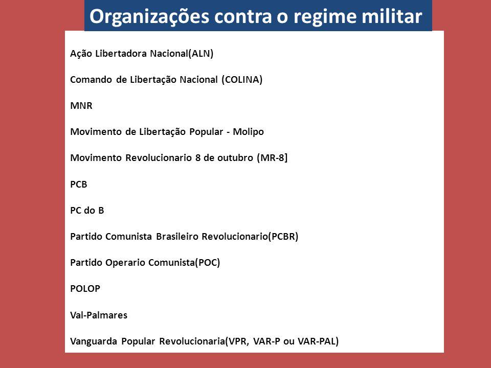 Organizações contra o regime militar