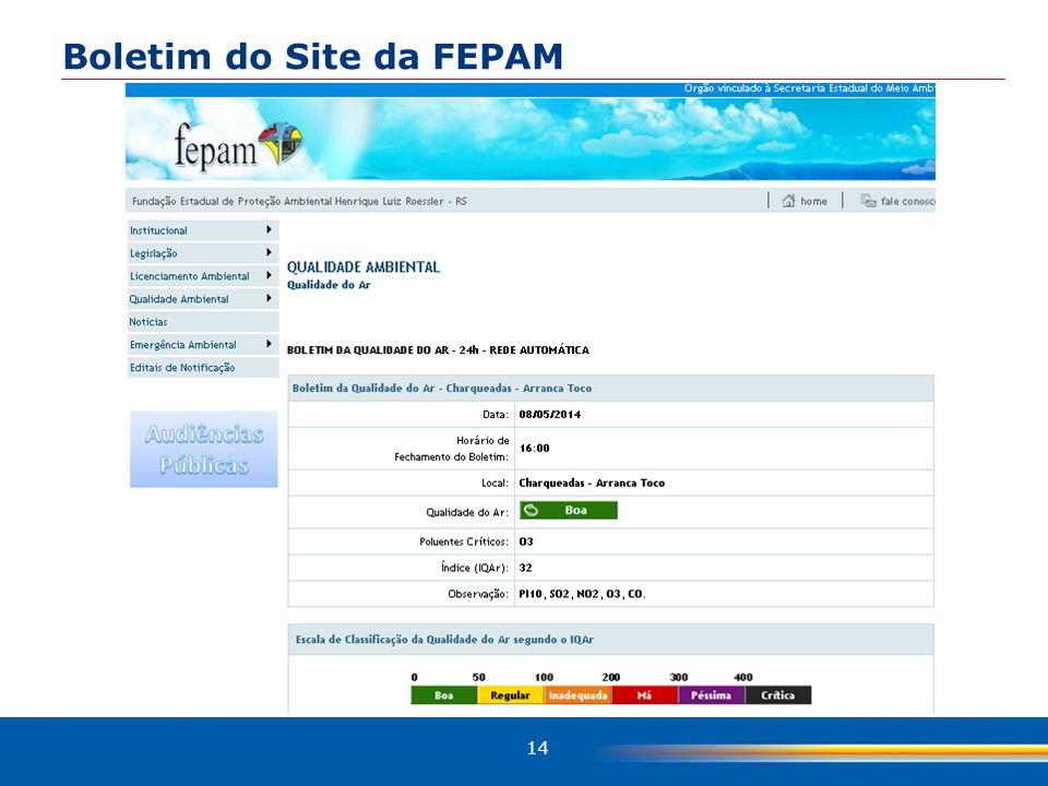 Boletim do Site da FEPAM