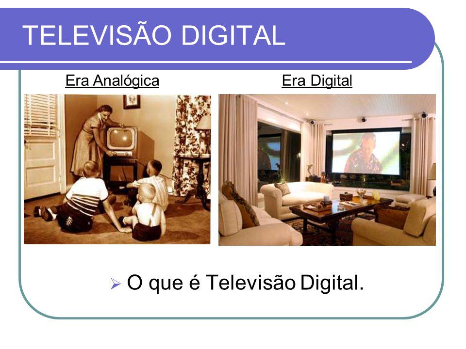 TELEVISÃO DIGITAL Era Analógica Era Digital O que é Televisão Digital.