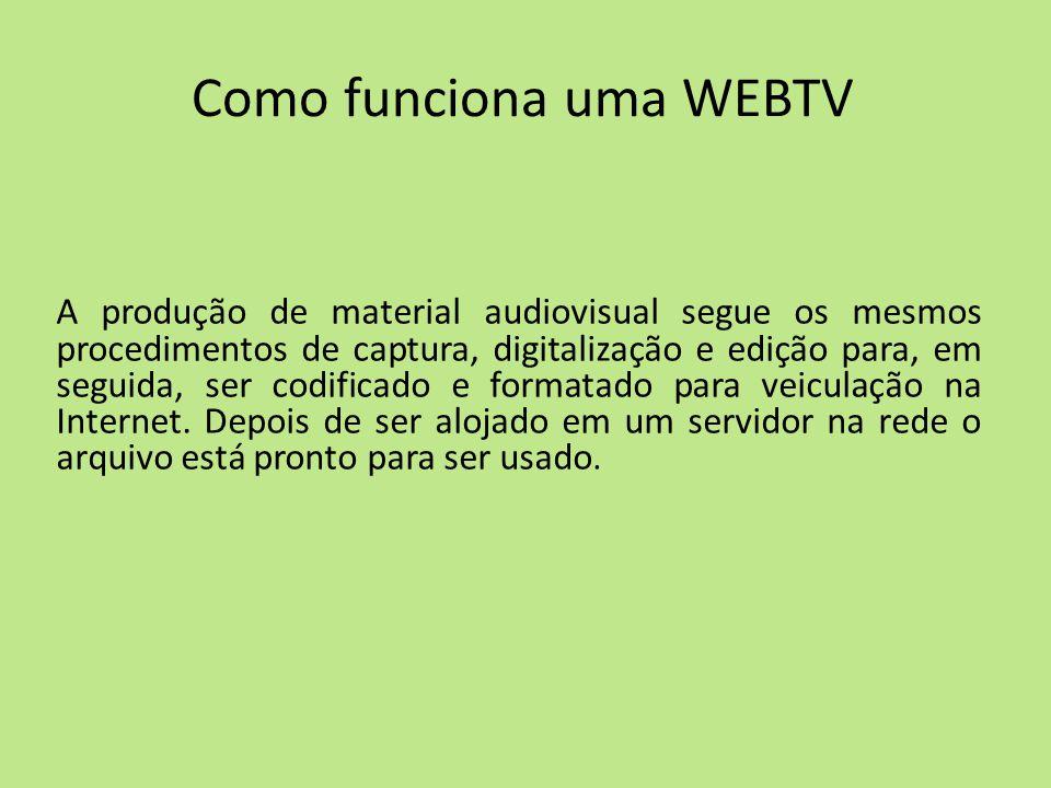 Como funciona uma WEBTV