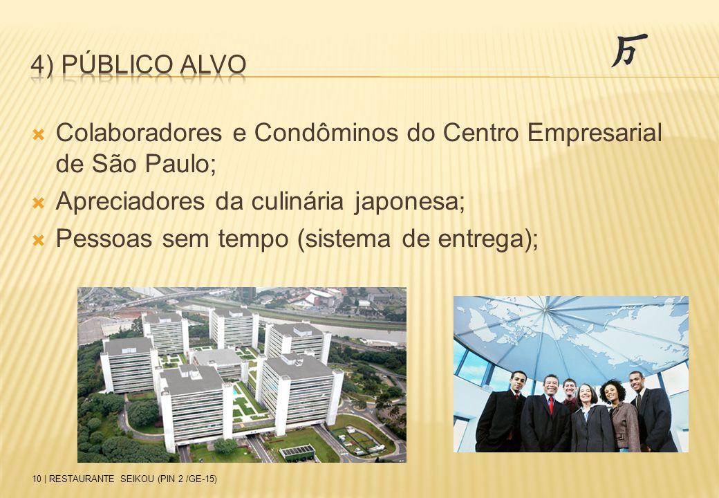 Colaboradores e Condôminos do Centro Empresarial de São Paulo;