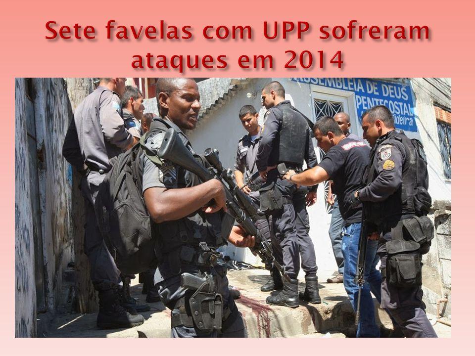 Sete favelas com UPP sofreram ataques em 2014