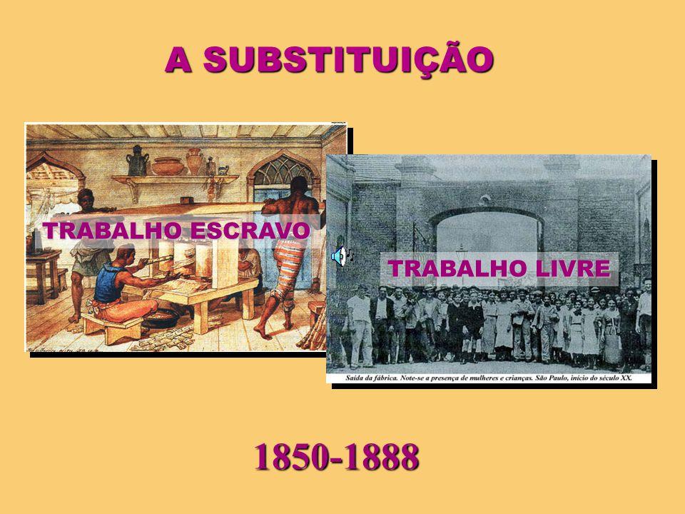 A SUBSTITUIÇÃO TRABALHO ESCRAVO TRABALHO LIVRE 1850-1888