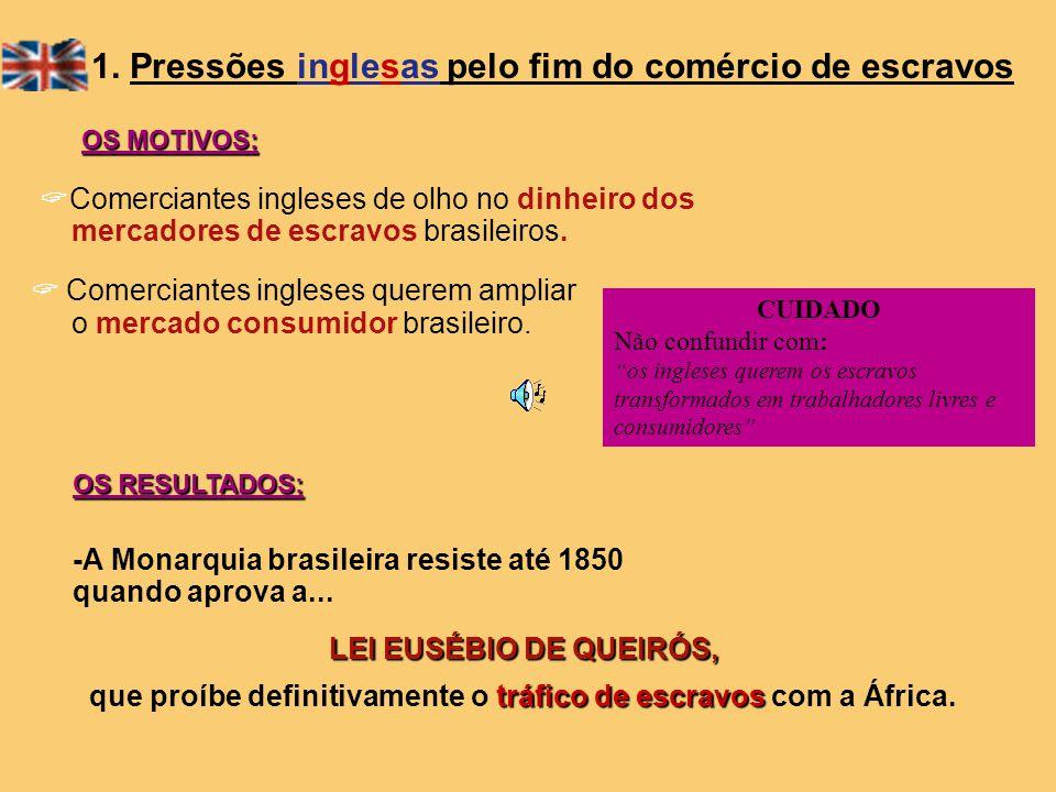 1. Pressões inglesas pelo fim do comércio de escravos