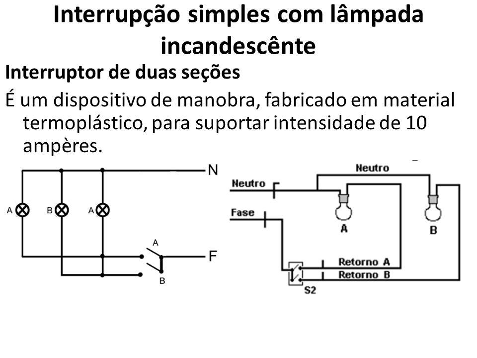 Interrupção simples com lâmpada incandescênte