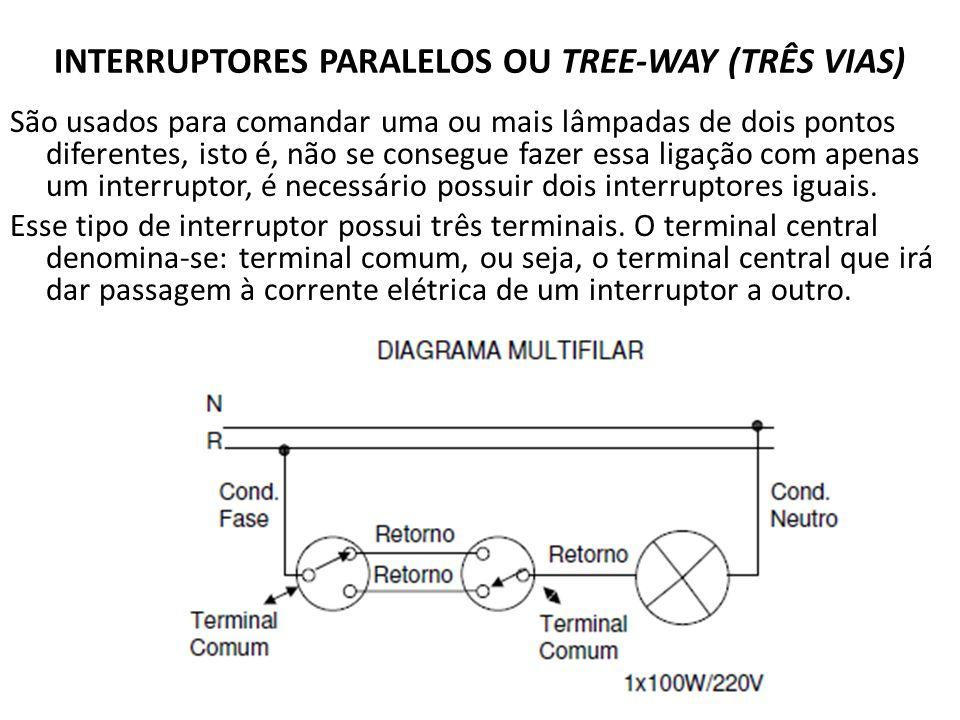 INTERRUPTORES PARALELOS OU TREE-WAY (TRÊS VIAS)