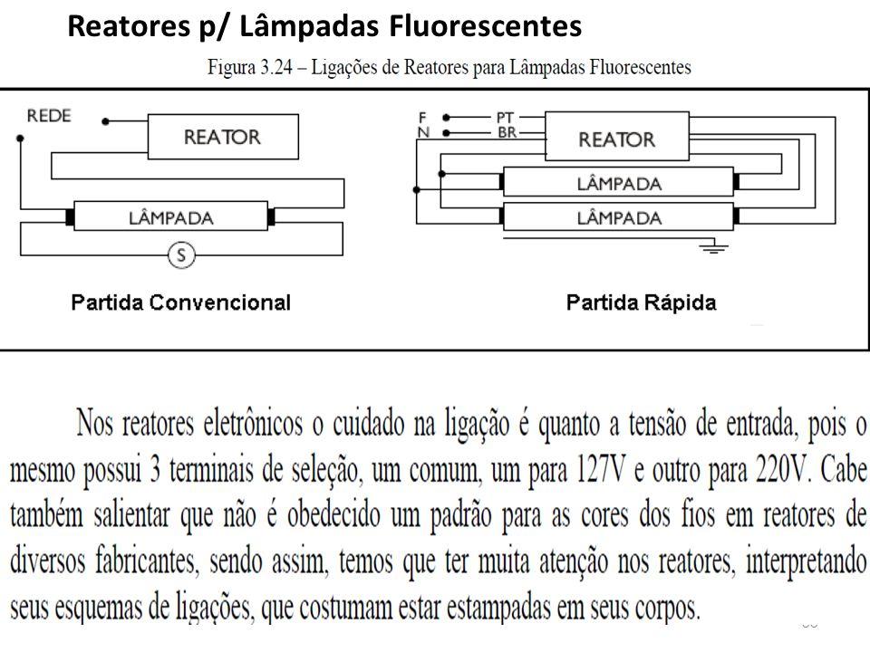 Reatores p/ Lâmpadas Fluorescentes
