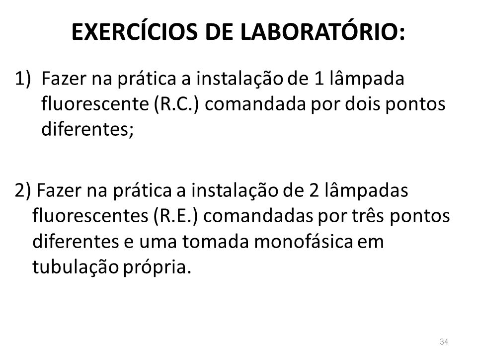 EXERCÍCIOS DE LABORATÓRIO: