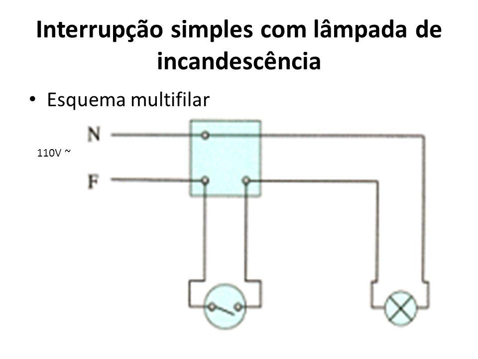 Interrupção simples com lâmpada de incandescência