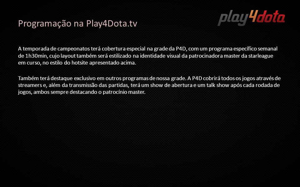 Programação na Play4Dota.tv