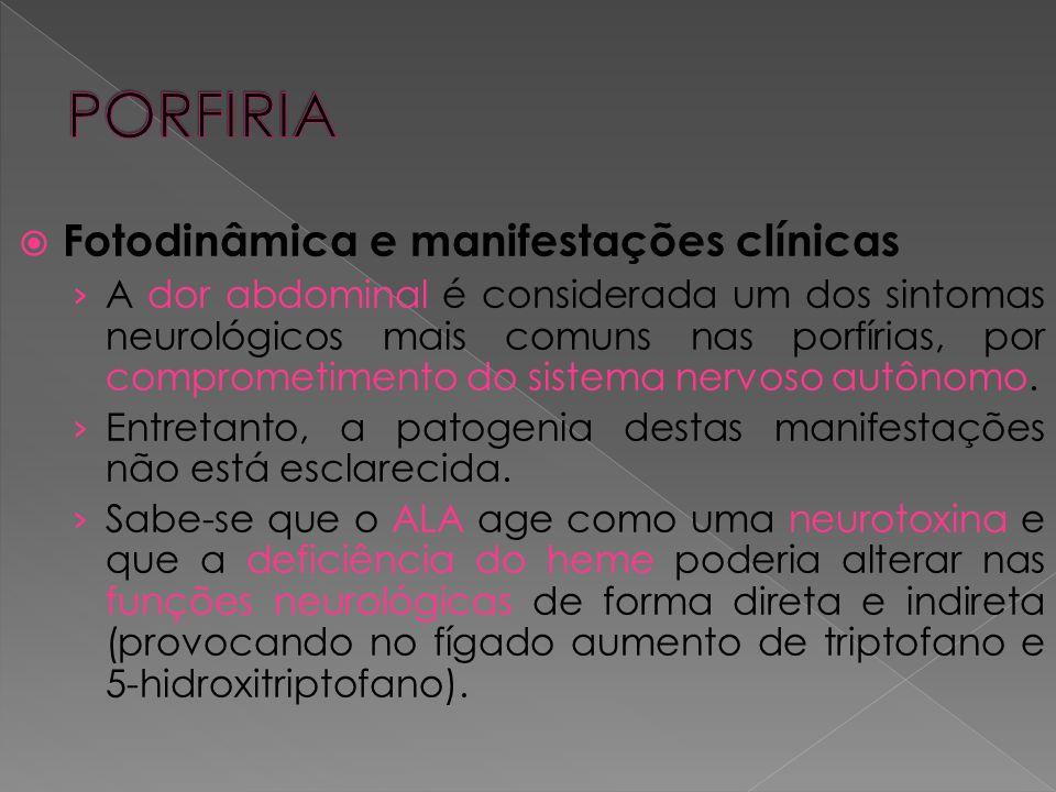 PORFIRIA Fotodinâmica e manifestações clínicas