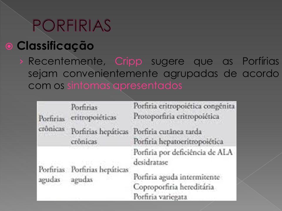 PORFIRIAS Classificação