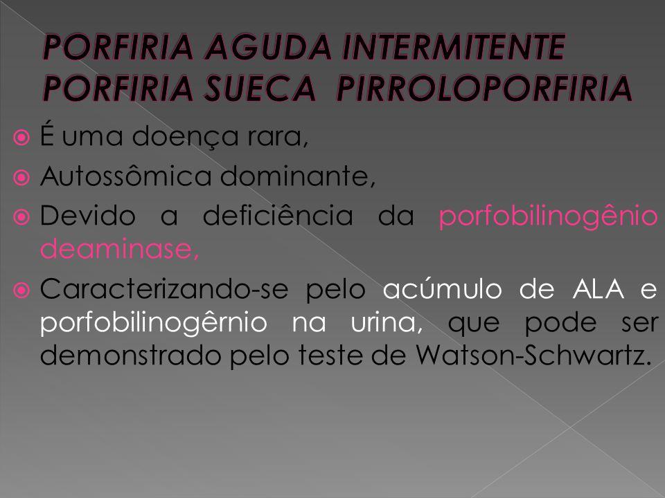 PORFIRIA AGUDA INTERMITENTE PORFIRIA SUECA PIRROLOPORFIRIA